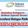 İNTERCULTURAL DİALOGUE PLATFORMU-BASIN AÇIKLAMASI