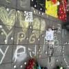 BRÜKSEL'DE PKK SEMPATİZANLARINDAN TERÖRE KINAMA