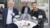 ENGELLİLER İÇİN MOTOSİKLETİYLE TÜRKİYE'Yİ DOLAŞIYOR