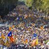 İspanya'da Katalonya bağımsızlığına destek yürüyüşü