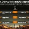 UEFA Avrupa Ligi'nde rakipler belli