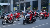 Harley-Davidson'lu Noel Babalar Brüksel'de tur attı