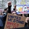 Brüksel'de Trump karşıtı gösteri