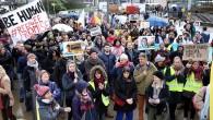 Brüksel'de sığınmacılara destek gösterisi