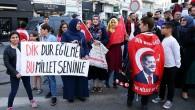 Brüksel'de Cumhurbaşkanı Erdoğan'a sevgi gösterisi