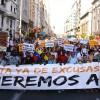 Madrid'de sığınmacılara destek yürüyüşü