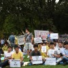 Avusturya'da Afganistanlı sığınmacılardan oturma eylemi