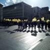 Brüksel'de terör örgütü elebaşı Öcalan için eylem