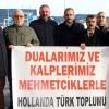 Hollanda'daki Türkler'den Mehmetçik'e destek
