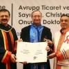 EUROCHAMBRES Başkanı Leitl'e onursal doktora verildi