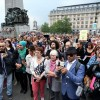 Brüksel'de polis şiddeti protesto edildi