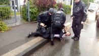 Almanya'da terör örgütü yandaşlarına tepki gösteren Türk'e polis şiddeti