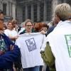 Brüksel'de göçmenlere destek gösterisi