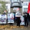 Brüksel'de Suudi Arabistan karşıtı protesto