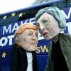 Brüksel'de Brexit protestosu