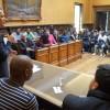 Başkan Kır, kağıtsızları belediye binasında ağırladı