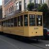 Eski tramvaylar Schaerbeek sokaklarından geçti