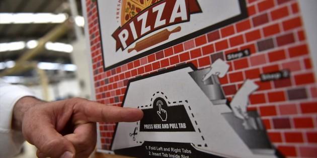 """Türkiye'de üretilen """"Kilitli pizza kutusu"""" dünyaya açıldı"""