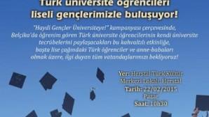 """""""HAYDİ GENÇLER ÜNİVERSİTEYE"""" KAMPANYASI BAŞLIYOR"""