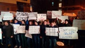 MOSKOVA'DA TÜRK BÜYÜKELÇİLİĞİ ÖNÜNDE EYLEM