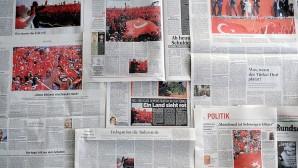 """Avrupa medyasında """"Demokrasi ve Şehitler Mitingi"""""""