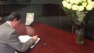 Büyükelçi Olcay, Karlov için açılan defteri imzaladı