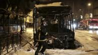 Atina'da troleybüslere molotofkokteyli ile saldırı