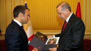 Erdoğan, Fransa Cumhurbaşkanı Macron ile bir araya geldi