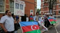 Ermenistan'ın sivillere saldırısı Londra'da protesto edildi