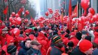 """Brüksel'de çalışanlardan """"emeklilik"""" protestosu"""