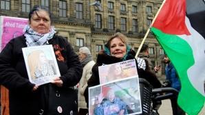 Hollanda'da Filistinli Temimi'ye destek gösterisi