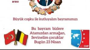 CHP Belçika Birliği 23 Nisan Çocuk Bayramı'nı kutluyor