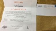 İngiltere'de Müslümanlara gönderilen İslamofobik mektuplara protesto