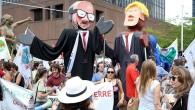 Brüksel'de Trump protestosu