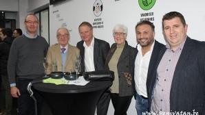Crossing Schaerbeek kulübünden sponsorlara teşekkür plaketi