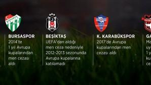 UEFA, en çok Türk kulüplerini Avrupa'dan men ediyor