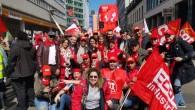Brüksel'de işçi protestosu