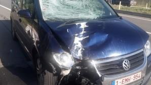 Belçikalı gurbetçi aile Edirne'de kaza yaptı