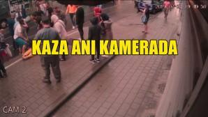 Schaerbeek'teki kaza anı kamerada