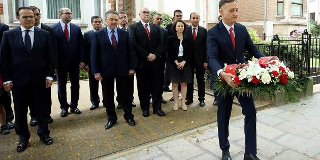 Şehit diplomat Dursun Aksoy Brüksel'de anıldı