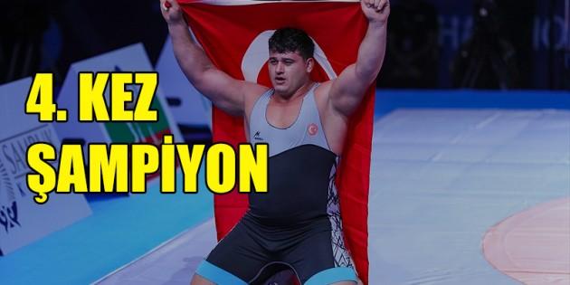 Rıza Kayaalp, 4. kez dünya şampiyonu