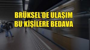 Brüksel'de ulaşım 25 yaş altı ile 65 yaş üstüne bedava oluyor