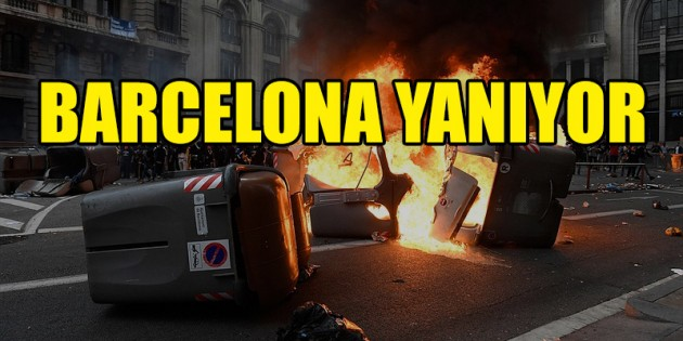 Barcelona'da protesto çatışmaya dönüştü