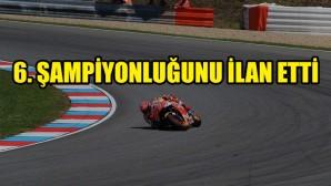 Marc Marquez, MotoGP'deki 6'ncı şampiyonluğunu ilan etti