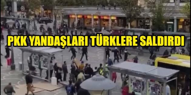 Liege'de PKK yandaşları Türk vatandaşlarına saldırdı
