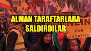 PKK yandaşları ile Alman taraftarlar arasında kavga