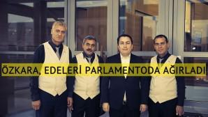 Milletvekili Özkara, Edeleri Brüksel Parlamentosu'nda ağırladı