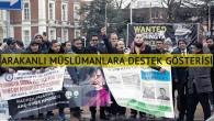 Hollanda'da Arakanlı Müslümanlardan destek gösterisi