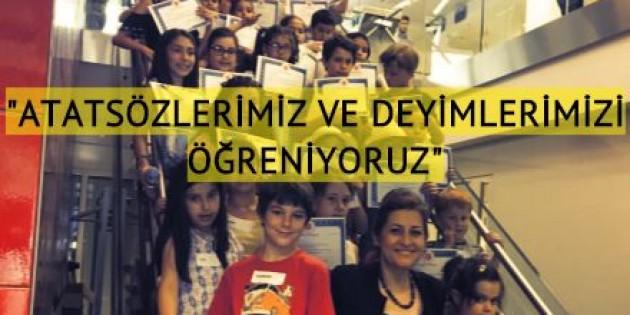 Çocuklara Türkçe dil etkinlikleri atölyesi devam ediyor