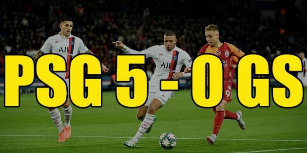 Galatasaray, PSG'ye 5-0 mağlup oldu